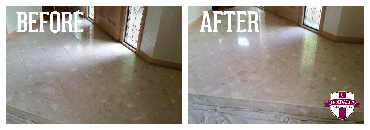 Stone Polishing and grout renewal